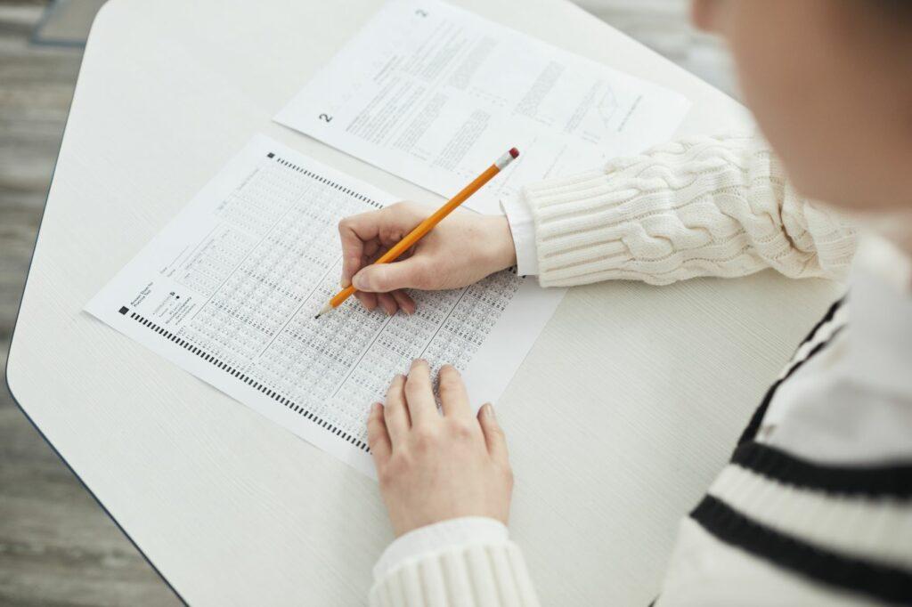 multiple choice standardized test